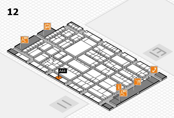 K 2016 hall map (Hall 12): stand A44