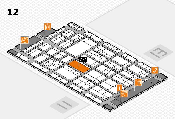 K 2016 hall map (Hall 12): stand C49