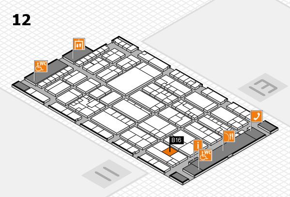 K 2016 hall map (Hall 12): stand B16