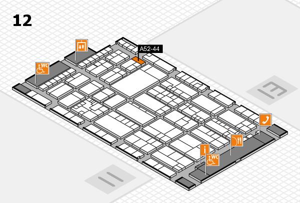 K 2016 Hallenplan (Halle 12): Stand A52-44