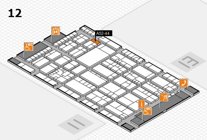 K 2016 hall map (Hall 12): stand A52-44