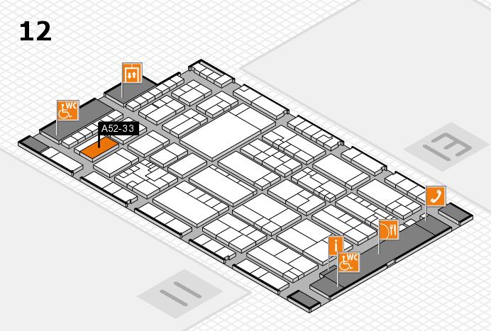 K 2016 hall map (Hall 12): stand A52-33