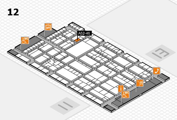 K 2016 hall map (Hall 12): stand A52-46