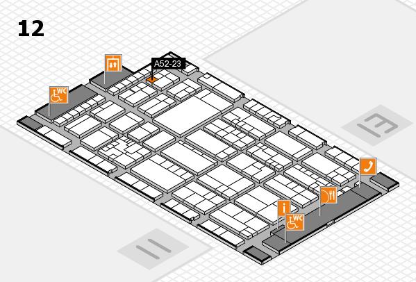 K 2016 hall map (Hall 12): stand A52-23