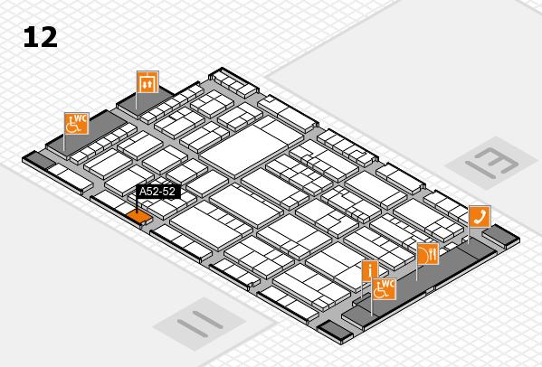K 2016 hall map (Hall 12): stand A52-52