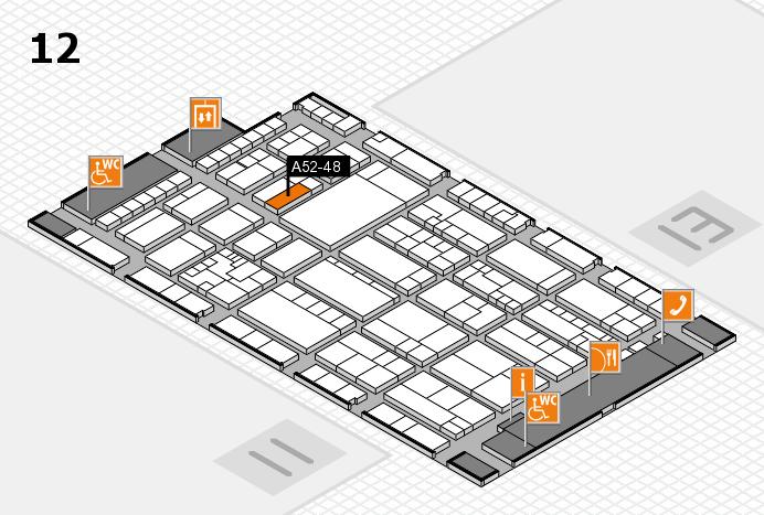 K 2016 hall map (Hall 12): stand A52-48
