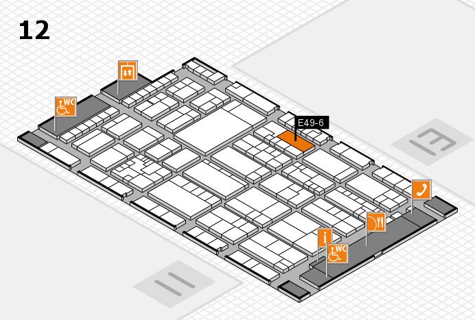 K 2016 hall map (Hall 12): stand E49-6
