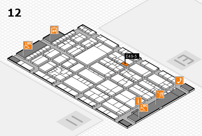 K 2016 hall map (Hall 12): stand E49-5