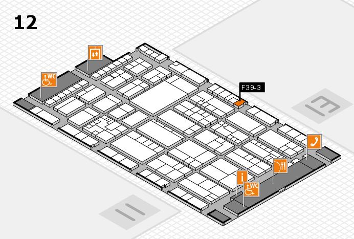 K 2016 hall map (Hall 12): stand F39-3
