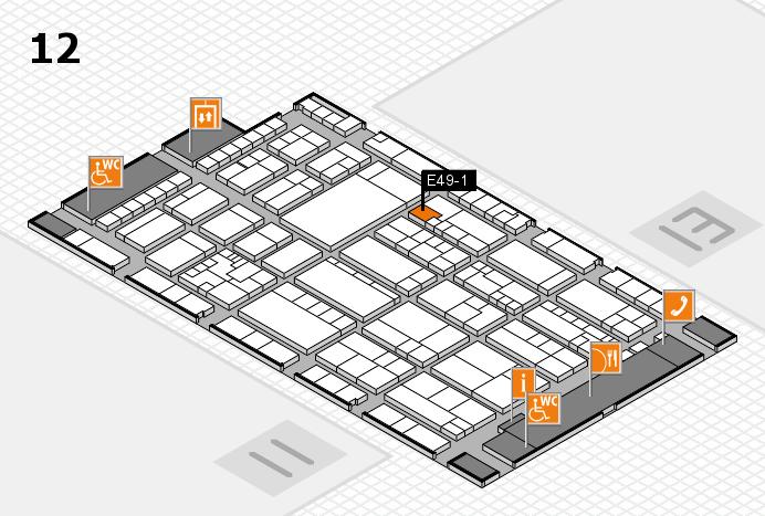 K 2016 hall map (Hall 12): stand E49-1
