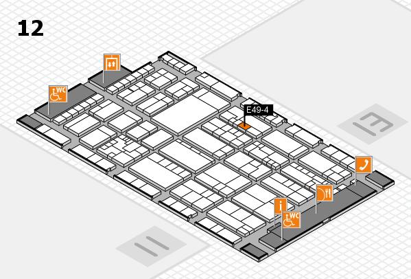 K 2016 hall map (Hall 12): stand E49-4
