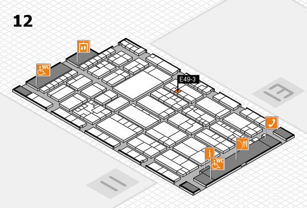 K 2016 hall map (Hall 12): stand E49-3