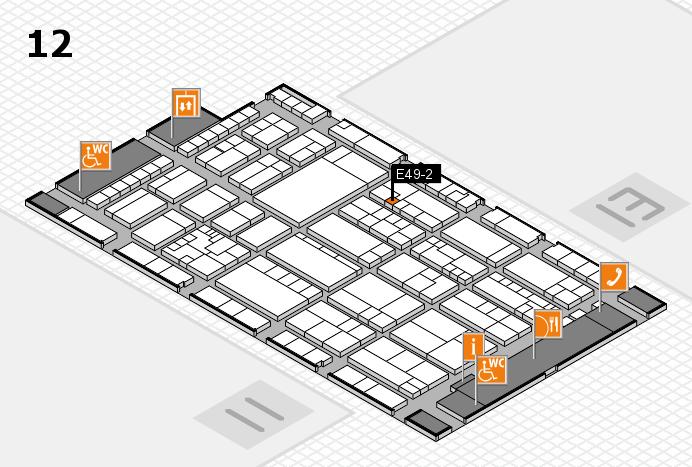 K 2016 hall map (Hall 12): stand E49-2
