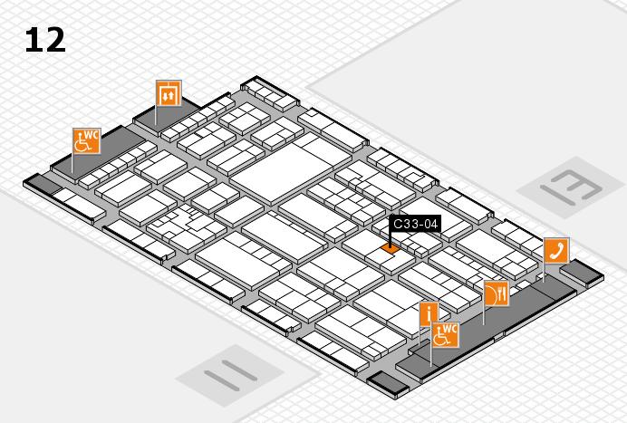 K 2016 hall map (Hall 12): stand C33-04