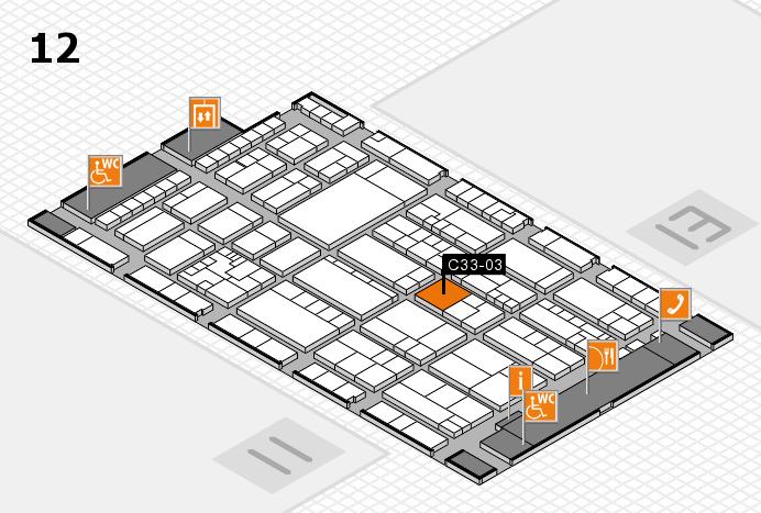 K 2016 hall map (Hall 12): stand C33-03