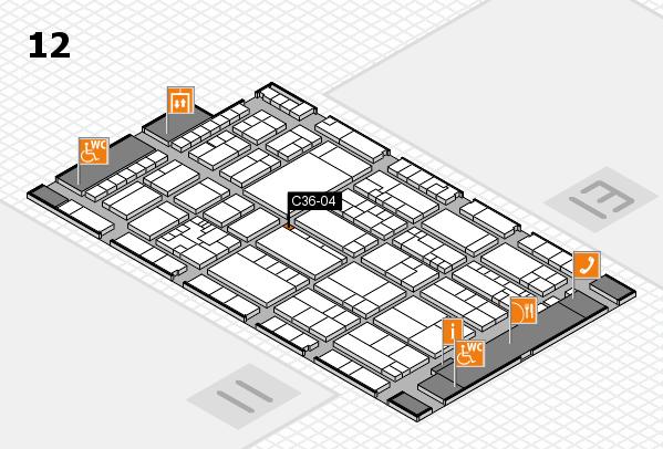 K 2016 hall map (Hall 12): stand C36-04
