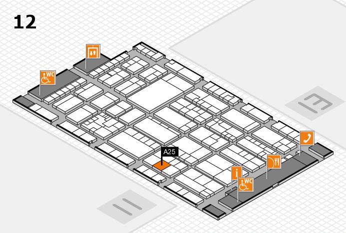 K 2016 hall map (Hall 12): stand A25