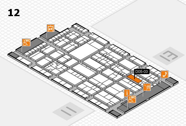 K 2016 hall map (Hall 12): stand D05-03