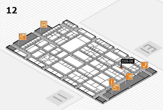K 2016 hall map (Hall 12): stand D05-06