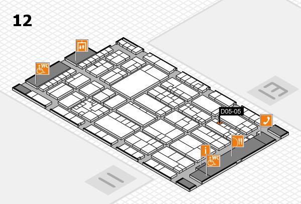 K 2016 hall map (Hall 12): stand D05-05
