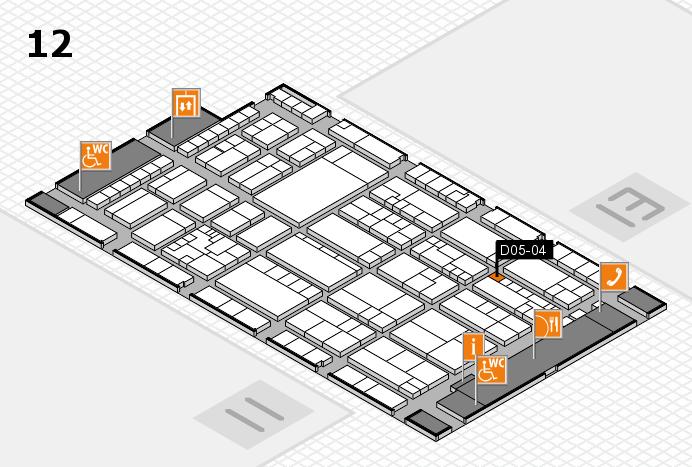 K 2016 hall map (Hall 12): stand D05-04