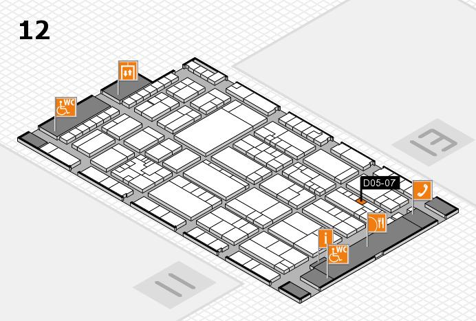 K 2016 hall map (Hall 12): stand D05-07