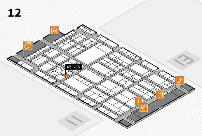 K 2016 hall map (Hall 12): stand A51-06