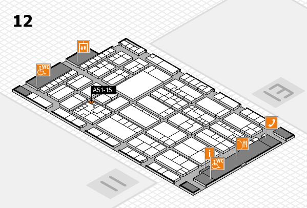 K 2016 hall map (Hall 12): stand A51-15