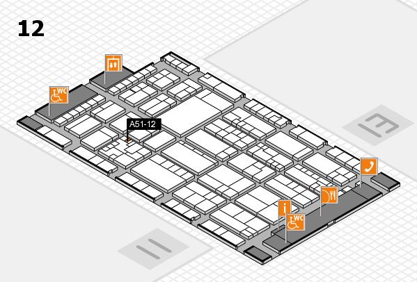 K 2016 hall map (Hall 12): stand A51-12