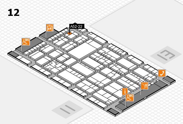 K 2016 hall map (Hall 12): stand A52-22