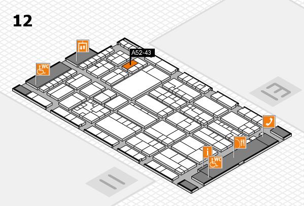 K 2016 hall map (Hall 12): stand A52-43