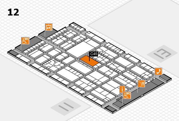 K 2016 hall map (Hall 12): stand C45