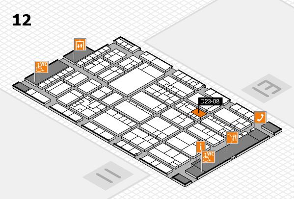 K 2016 hall map (Hall 12): stand D23-08