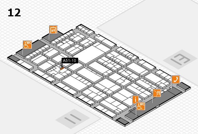 K 2016 hall map (Hall 12): stand A51-10