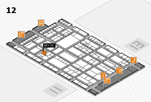 K 2016 hall map (Hall 12): stand A51-14