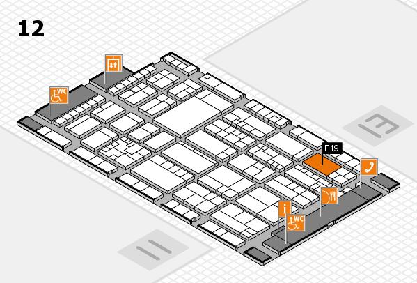 K 2016 hall map (Hall 12): stand E19