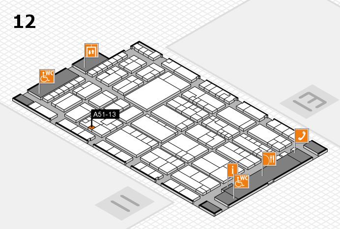 K 2016 hall map (Hall 12): stand A51-13