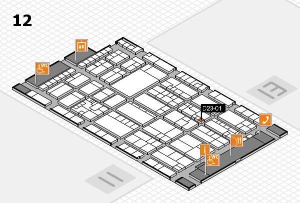 K 2016 Hallenplan (Halle 12): Stand D23-01