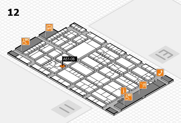 K 2016 hall map (Hall 12): stand A51-08