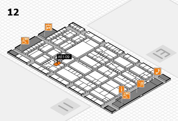 K 2016 hall map (Hall 12): stand A51-09