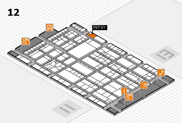 K 2016 hall map (Hall 12): stand F57-01