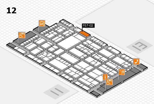 K 2016 hall map (Hall 12): stand F57-02
