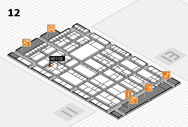 K 2016 hall map (Hall 12): stand A51-02