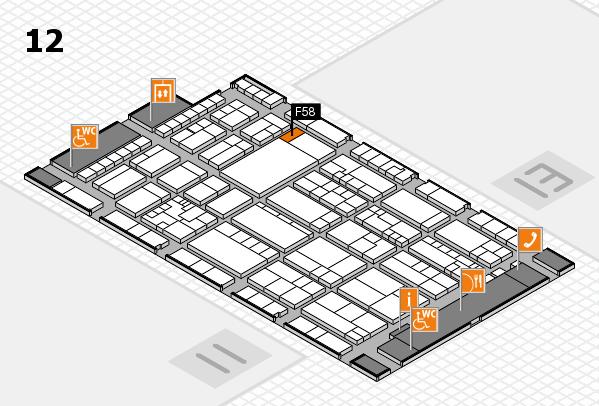 K 2016 Hallenplan (Halle 12): Stand F58