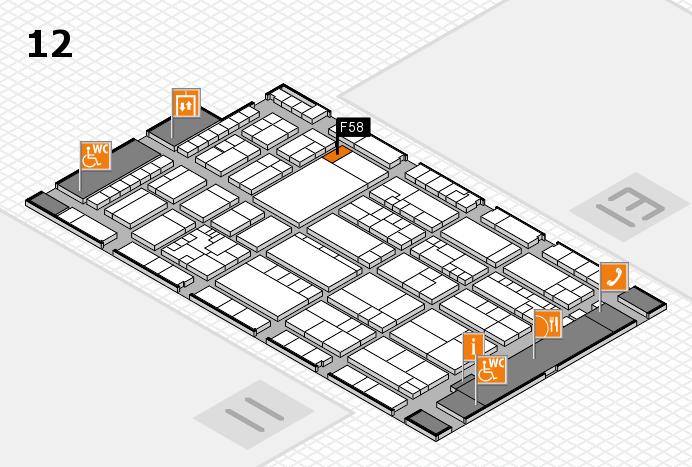 K 2016 hall map (Hall 12): stand F58