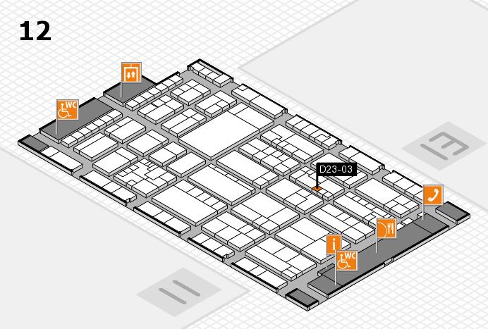 K 2016 hall map (Hall 12): stand D23-03