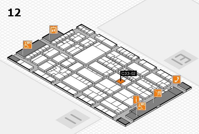 K 2016 hall map (Hall 12): stand C33-02