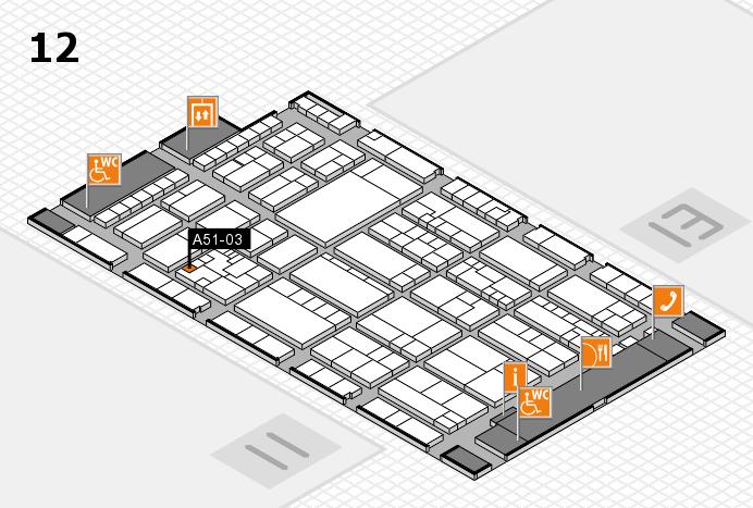 K 2016 hall map (Hall 12): stand A51-03