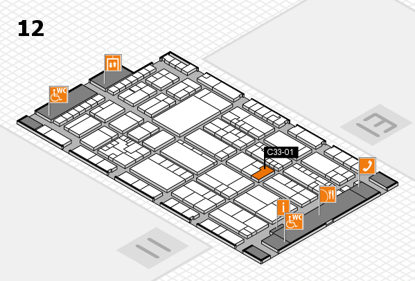 K 2016 hall map (Hall 12): stand C33-01