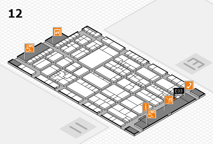 K 2016 hall map (Hall 12): stand E03